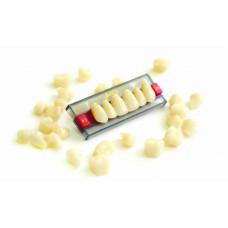 """Зуби акрилові """"Аніс"""" (планка 6 зубів) фронтальні"""